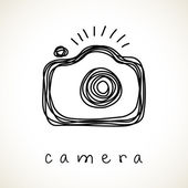 Hand drawn camera icon