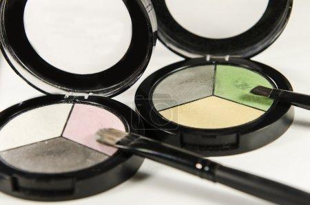 Eye shadow and powder with tassel