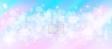 Gentle multi colored bokeh sparkly website header