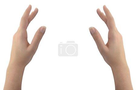 Photo pour Mains de guérison d'isolement sur le fond blanc - image libre de droit