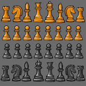 chess pieces on a gray background