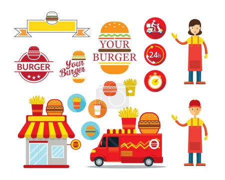 Burger Shop Graphic Elements
