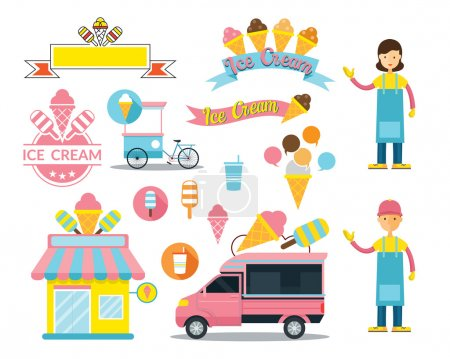 Ice Cream Shop Graphic Elements