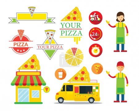 Pizza Shop Graphic Elements