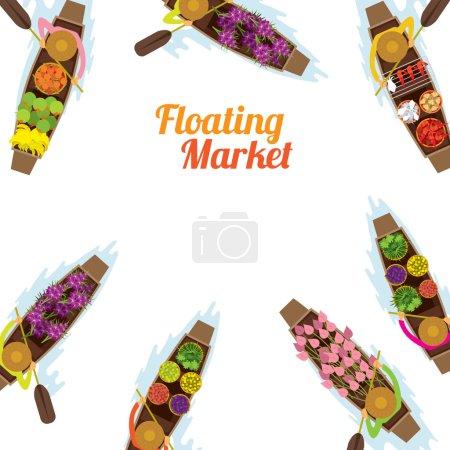 Floating Market, Boat, Frame,