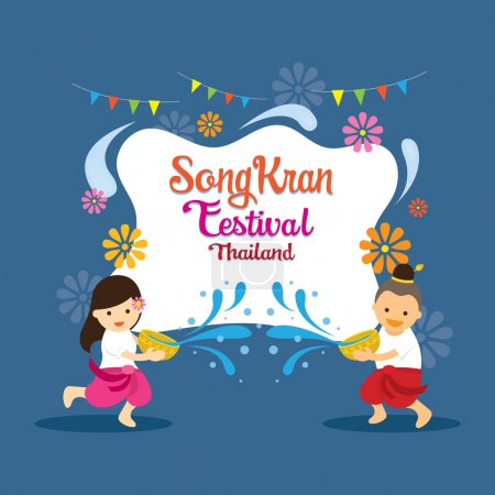 Songkran Festival, Kids Playing Water