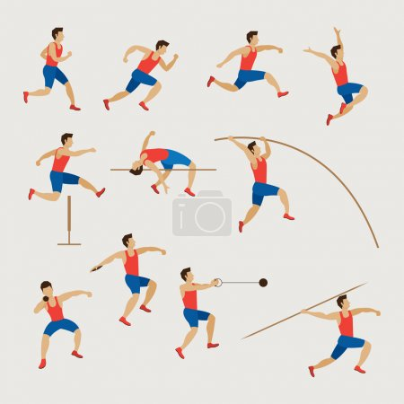Illustration for Athletics, Games, Action, Exercise - Royalty Free Image
