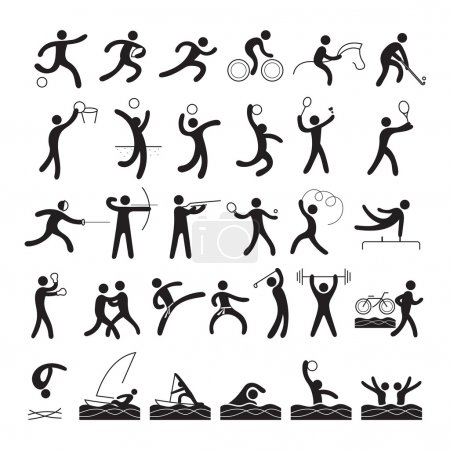 Sports Athletes, Symbol Set