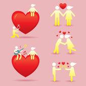 Koncept příběh lidské Symbol lásky