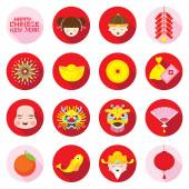Flat Icons Set : Chinese New Year