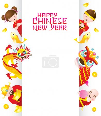 Illustration for Chinese New Year Set - Royalty Free Image