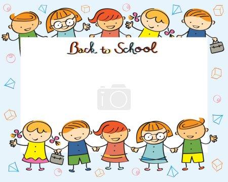 Illustration pour Dessin de Style, maternelle, préscolaire, enfants, éducation, apprentissage et étude Concept - image libre de droit
