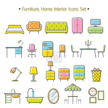 Illustration for Household, Home Interior Objects - Royalty Free Image