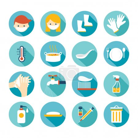 Illustration for Cleanness, Contagious Disease Prevention and Secure - Royalty Free Image