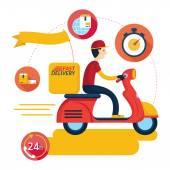 Dodávka Boy Jízda motocyklu skútrů s ikonami