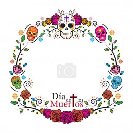 Day of the Dead Skulls Frame