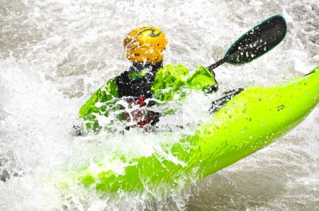 White water kayaking as extreme and fun sport