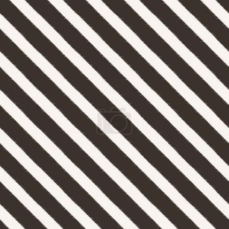 Seamless diagonal black and white stripes fabric p...
