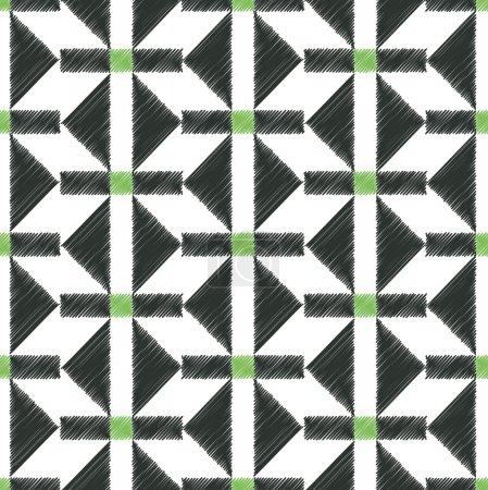 Seamless fabric geometric pattern