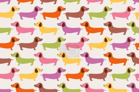 Cute dogs pattern