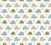 Seamless turtle cartoon pattern