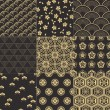 Seamless japanese traditional mesh vector  pattern...
