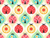 ladybird cartoon pattern
