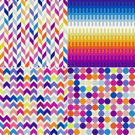 set of abstract geometric pattern