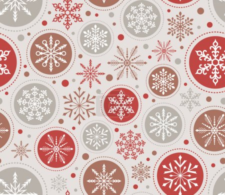 Photo for Seamless christmas snowflakes pattern, holiday background. vector - Royalty Free Image