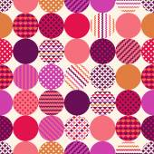 Seamless circles with dots with geometric texture pattern