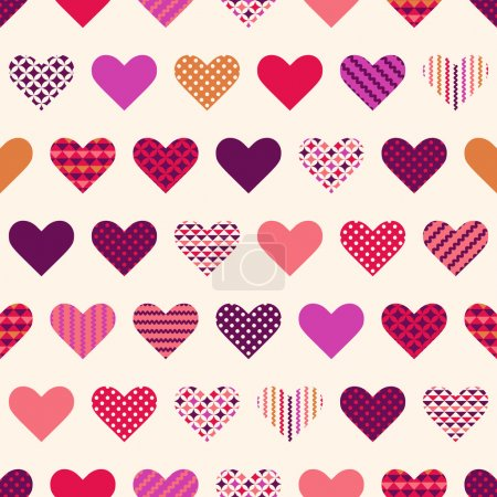colorful hearts pattern