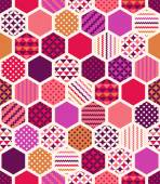 geometric hexagonal honeycoms pattern