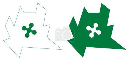 Emblem of lombardy region, sharp edges, vector