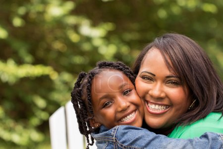 Photo for African American mother and daughter - Royalty Free Image