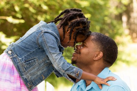 Photo for African American father and daughter - Royalty Free Image