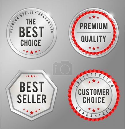 Illustration for Silver Business Badge vector illustration - Royalty Free Image