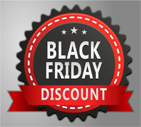 Illustration for Black friday discount badge vector illustration - Royalty Free Image