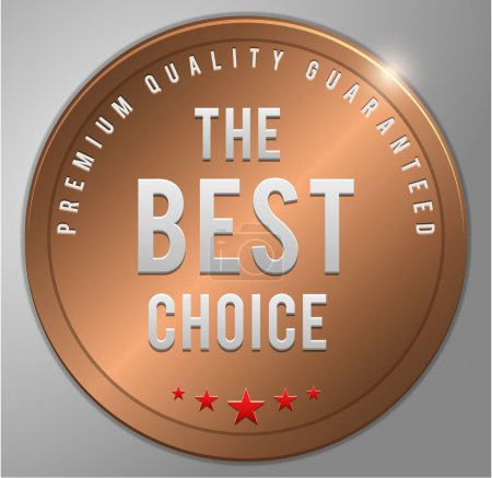 Illustration for The best choice Bronze badge vector illustration - Royalty Free Image