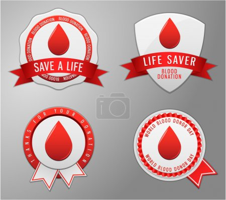 Save Blood Badge,Shield and Ribbon