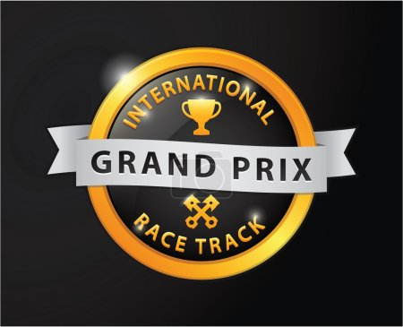 Grand prix international race track golden badge
