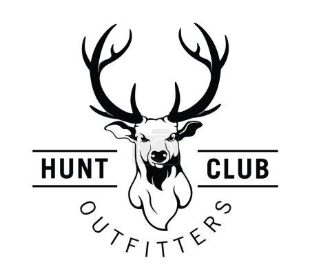 Hunt club label badge