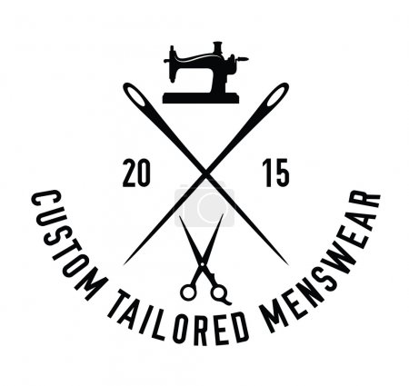 Custom tailored menswear : Sewing label badge