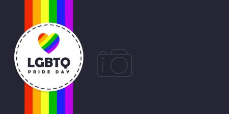 Illustration pour LGBTQ. Le mois de l'histoire LGBTQ. Jour de la fierté. Vecteur pour arrière-plan, affiche, carte postale, dessin de bannière. - image libre de droit