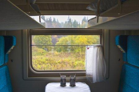 compartments inside the wagon train