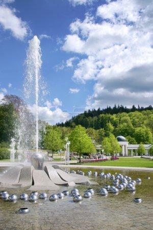 Singing fountain, spa Marianske lazne, Czech republic