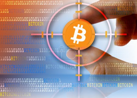 Photo for Digital currency Bitcoin open-source P2P payment network - Royalty Free Image