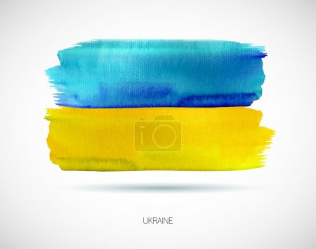 Painted Ukraine flag. Vector