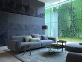 Podkrovní byt interiér. 3D vykreslování