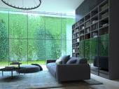loft apartment interior. 3d rendering