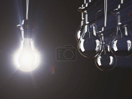 Illuminated fluorescent light bulbs